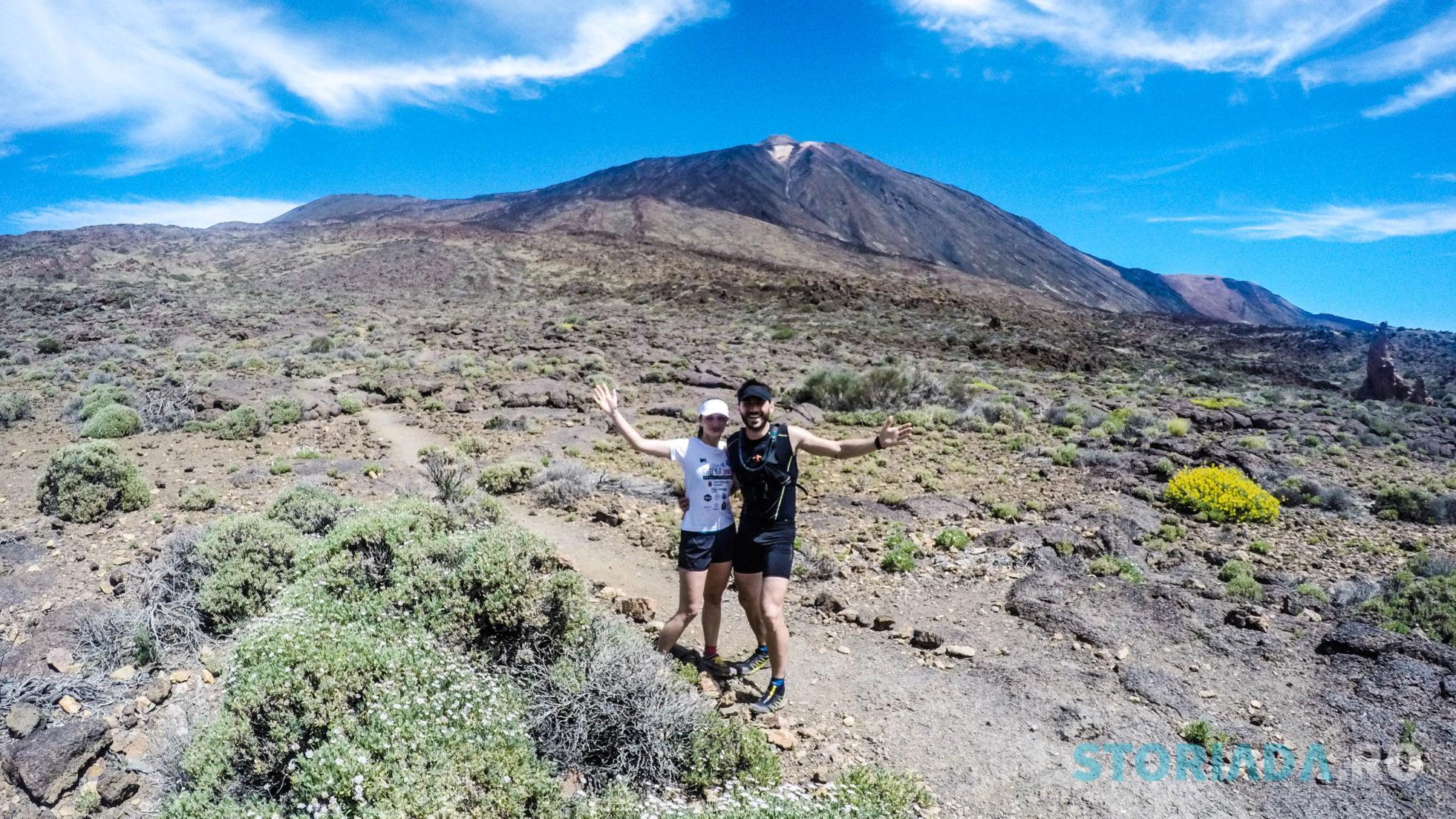 Perspectiva traseului catre El Teide