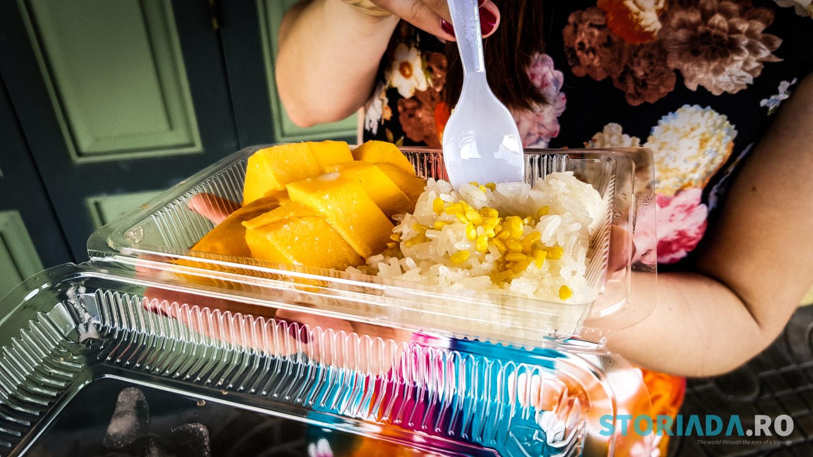 Mango, orez, lapte de cocos si bilute de soia