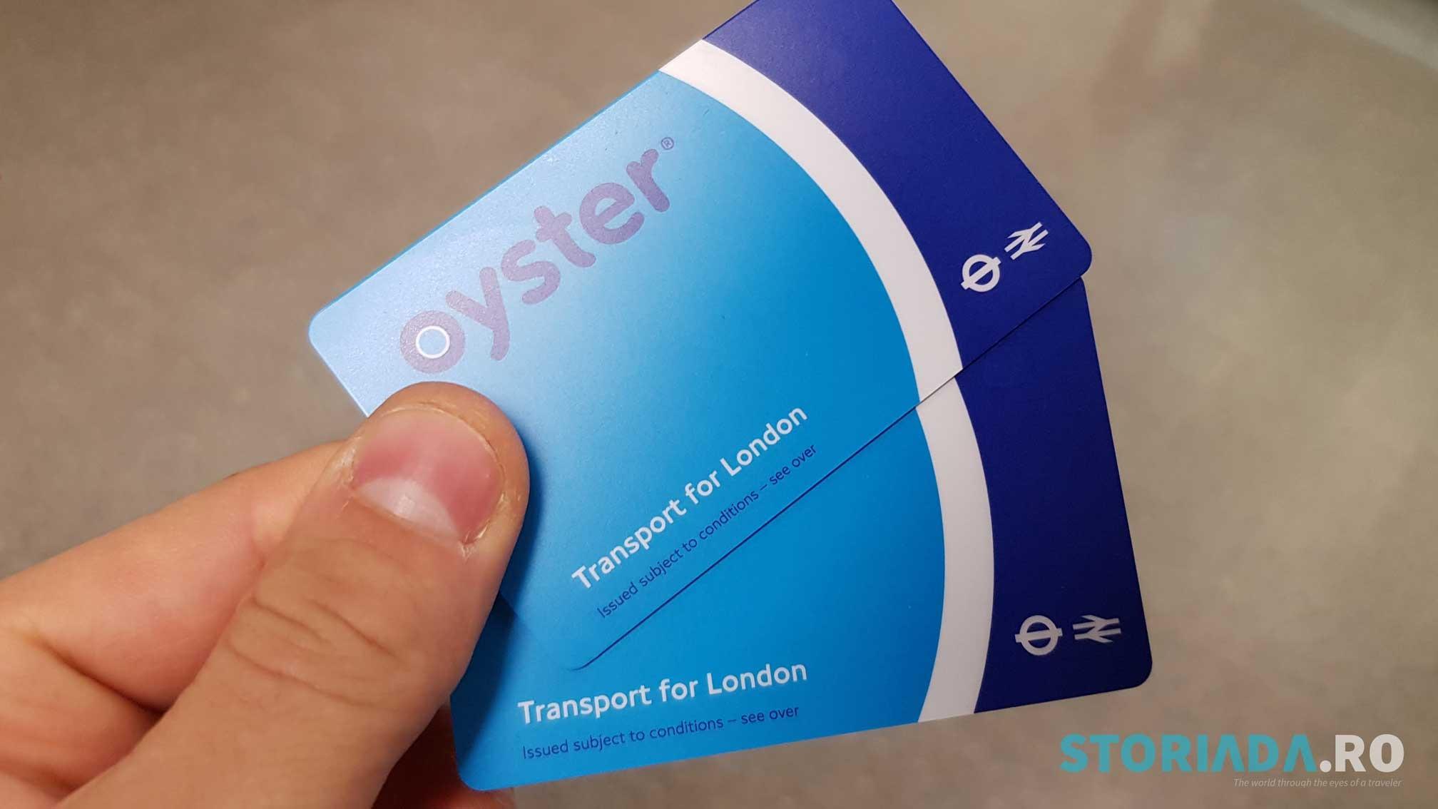 Card călătorie Oyster Card, Londra