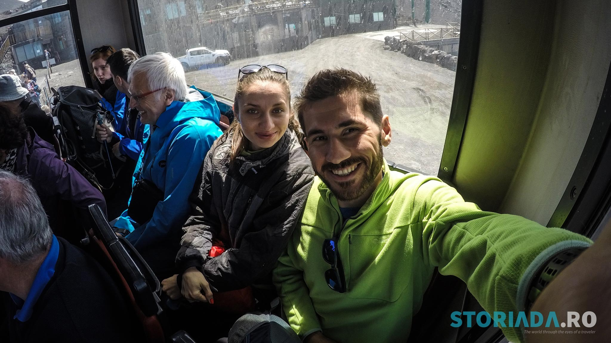Busul din Terminal Funivia (2500m) spre Torre del Filosofo (2920m)