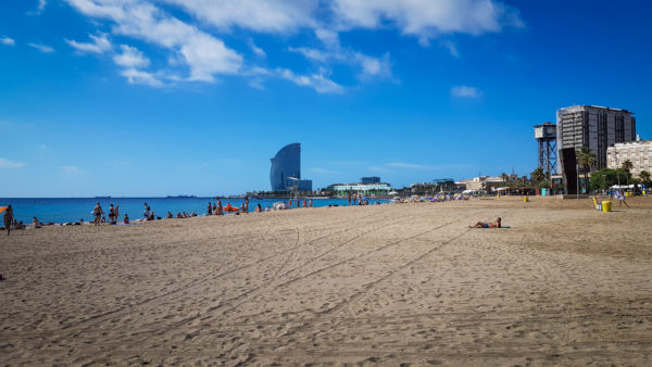 Plaja Barceloneta, Barcelona, Spain