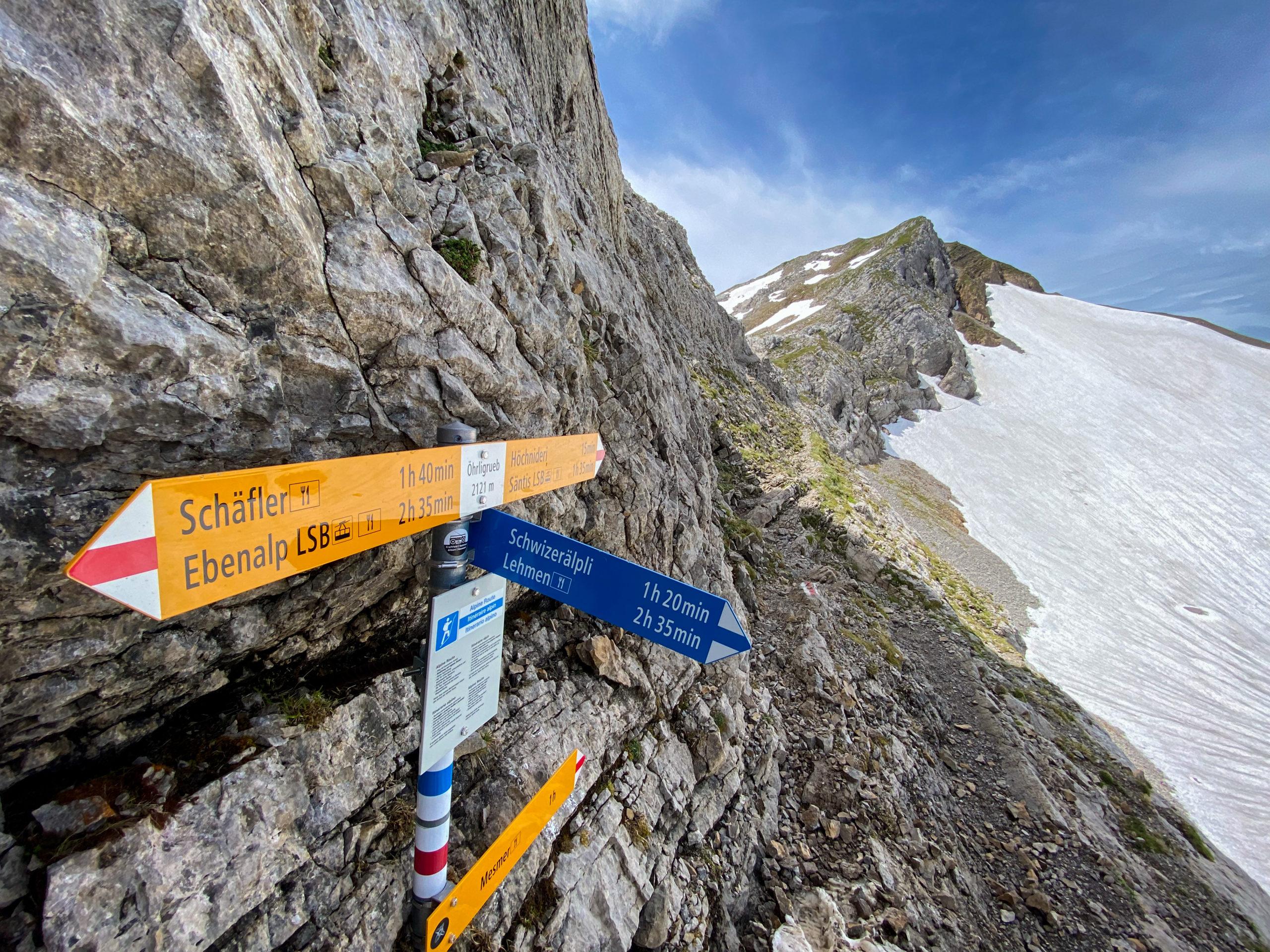 Alpstein, Hike Santis, Appenzell