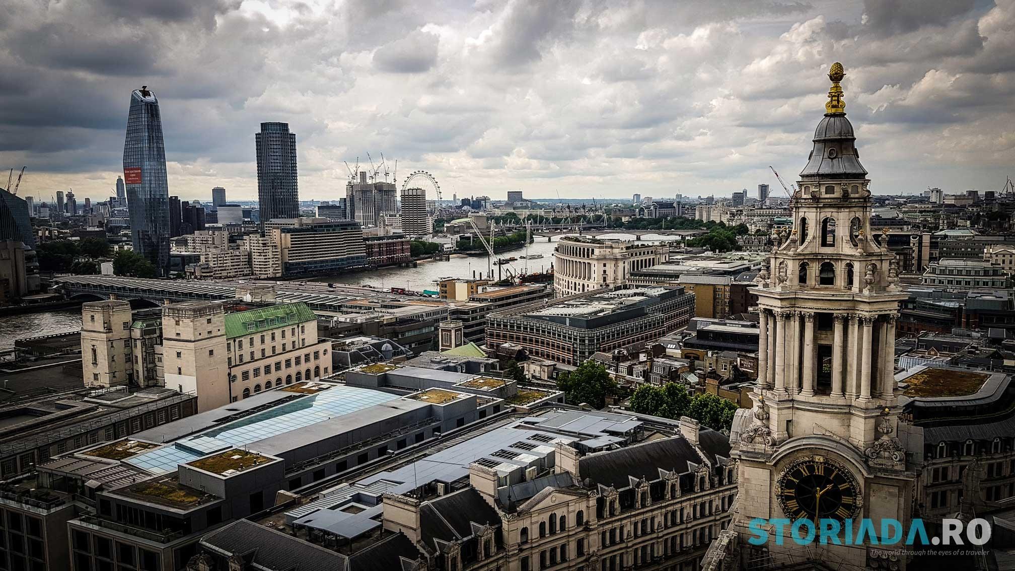 View de pe cupola catedralei Sf. Paul, Londra