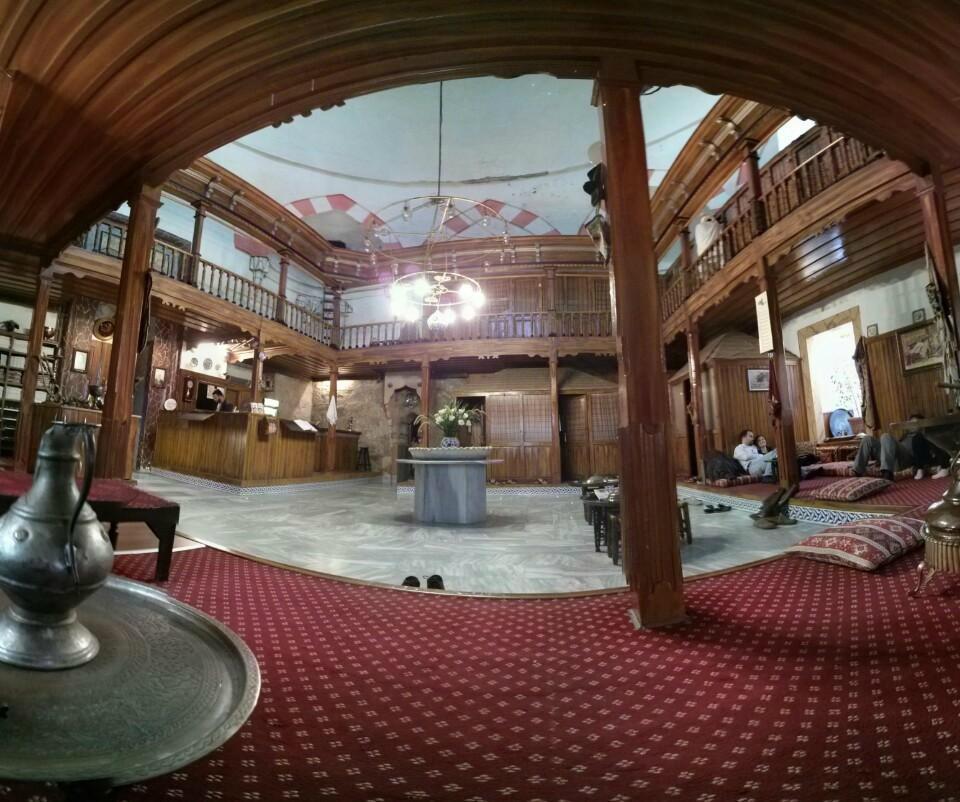 Sala de primire a hammamului Suleymaniye Hamami